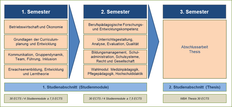 MBA GesPäd - Modul und Semesterplan